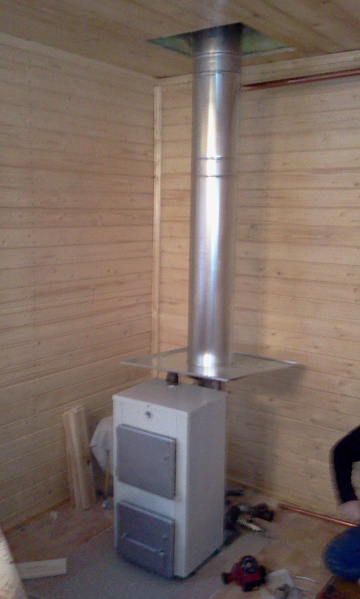 дровяное отопление с водяным контуром своими руками видео
